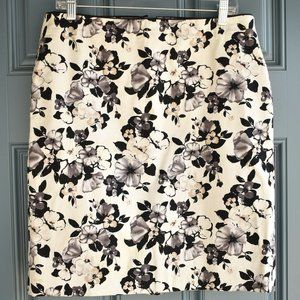 * White House|Black Market Floral Print Midi Skirt